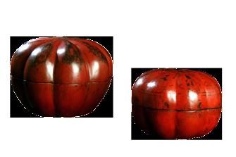scatole laccate rosse – Cina – XIX sec.