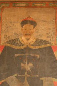 dettaglio dipinto di un mandarino – XVIII sec.