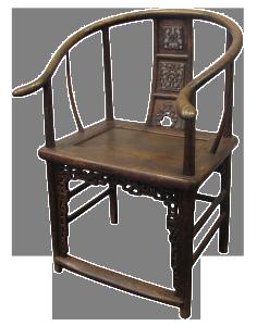 seggiola a ferro di cavallo (due pezzi) – XVIII sec.