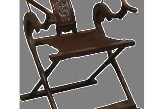 seggiola pieghevole (due pezzi) – XVIII sec.
