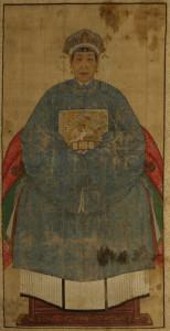 dipinto (scoll) dama di corte – XVII-XVIII sec.